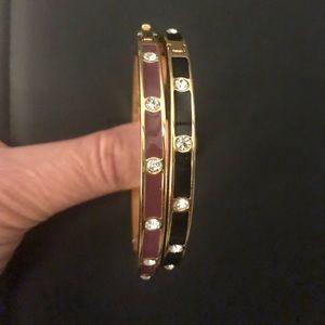 Kate Spade Bezel Bangle bracelets